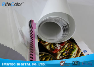 Eco Solvent PP Synthetic Paper , Adhesive Matte Polypropylene Film Rolls