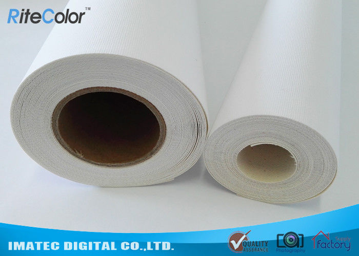 410Gsm Inkjet Cotton Canvas Roll , 20Mil Inkjet Printable Canvas Good Ink Absorbable