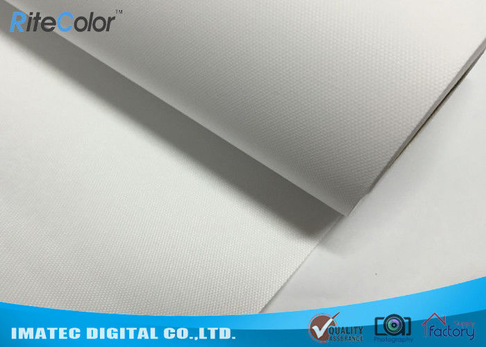 260g Eco Solvent Media , Bright White Matte Polyester Digital Printing Canvas Roll