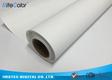 चीन Bright White Glossy Latex Media Digital Printing Polyester Canvas Fabric Roll वितरक