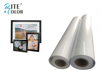 चीन Resin Coated Eco Solvent Media 240gsm Glossy Photographic Paper Inkjet Photo Roll फैक्टरी
